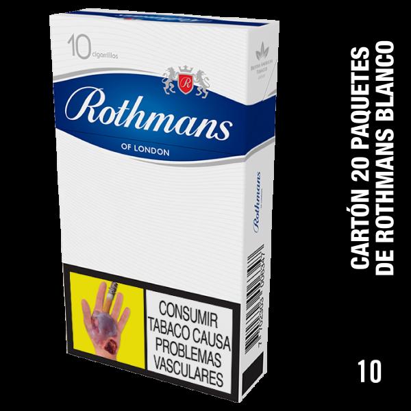 Rothmans Blanco - Cajetilla x 10und